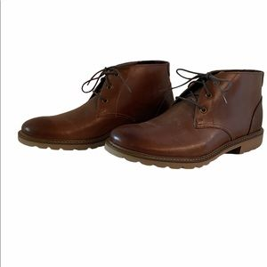 Rockport brown leather chukka boots size 10